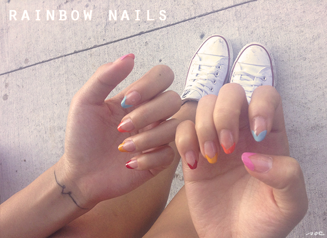 cute nails, pretty nails, french manicure,  slice of cyn