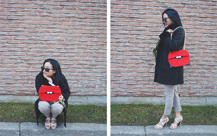 DIY Lip Clutch OOTD
